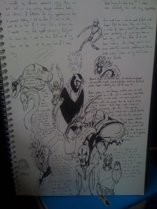 quick phone camera shot of the current writing pad