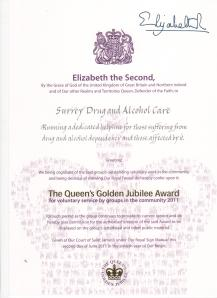 Queens Award Certificate