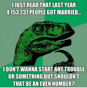Shouldn't marriage stats reflect an even number?