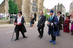 Dashing Gentlemen Defy The Cambridge Traffic