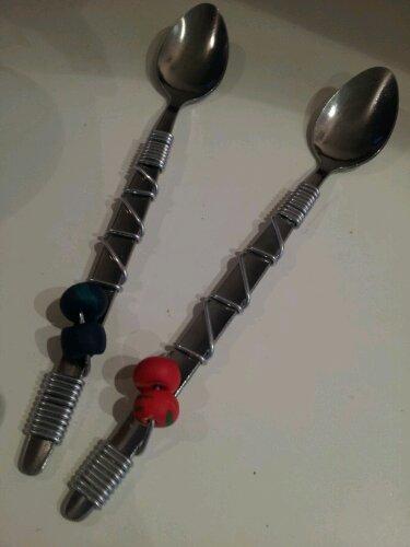 Metal Love Spoons