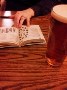 A quiet pint and a crossword