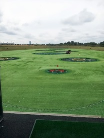 view of the TopGolf range with target zones visible