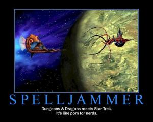 Spelljammer Motivational - Dungeons and Dragons meets Starwars: Porn for Nerds