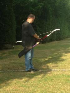 nocking an arrow