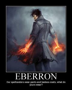 Eberron Motivator featuring a mage in near-modern dress