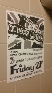 Flyer for the Wessex Pistols gig on the 29th May