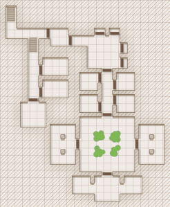 simple map of connected rooms