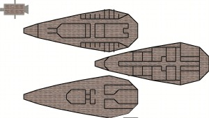 Deck plans for a skyship