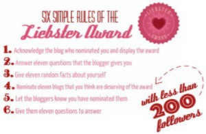 Liebster Award Logo and Rules
